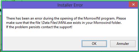 Installation MOSG - Erreur de fichiers - La Confrérie des